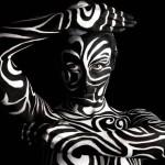 Zebra Swirls Bodypaint
