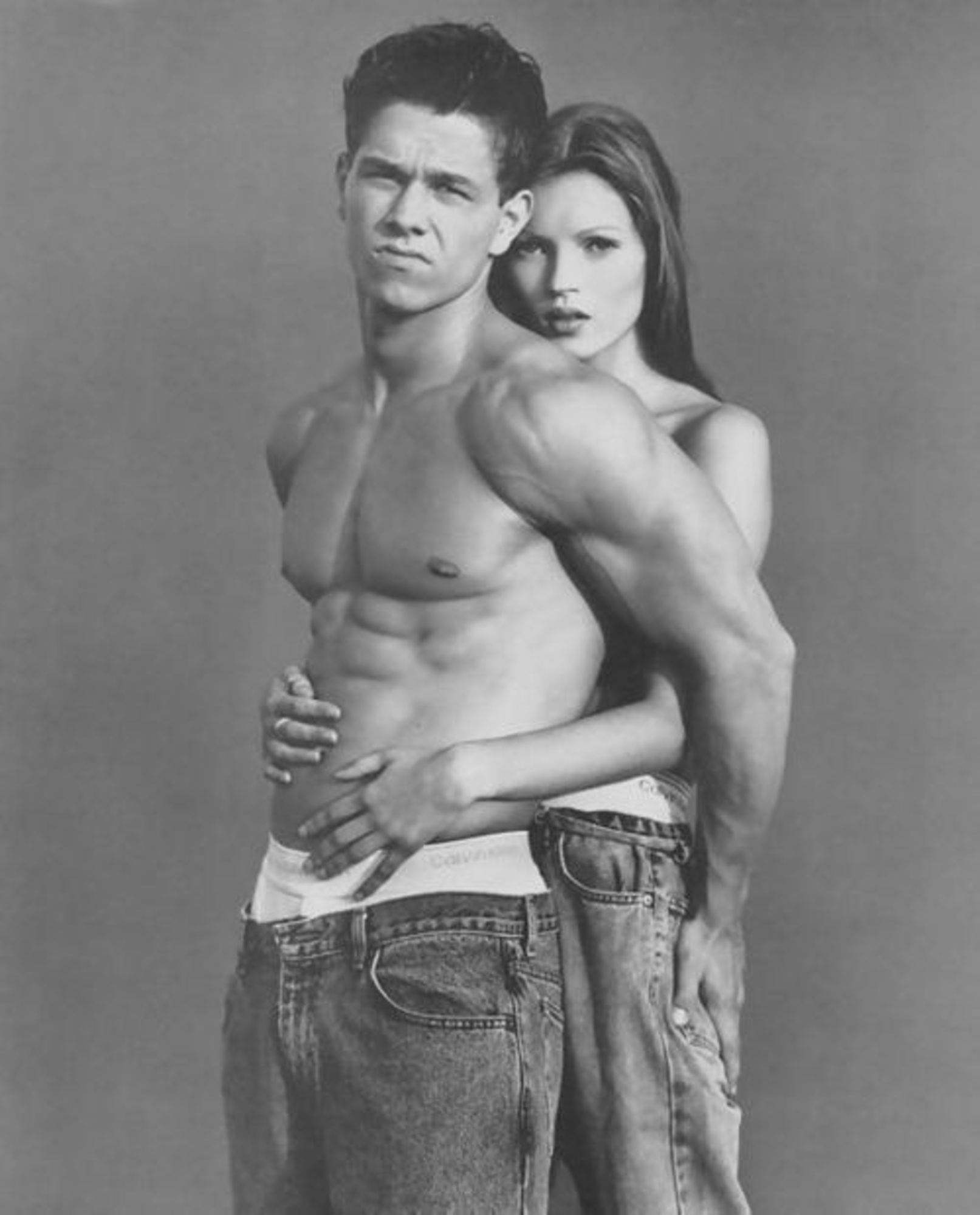 Kate Moss and Marky Mark