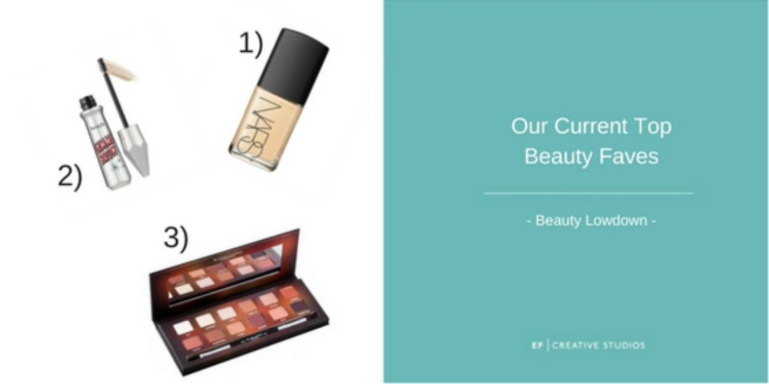 Top makeup faves, blog post, nars, benefit, blank canvas