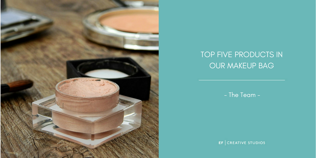 Top five makeup products, makeup bag, makeup artist