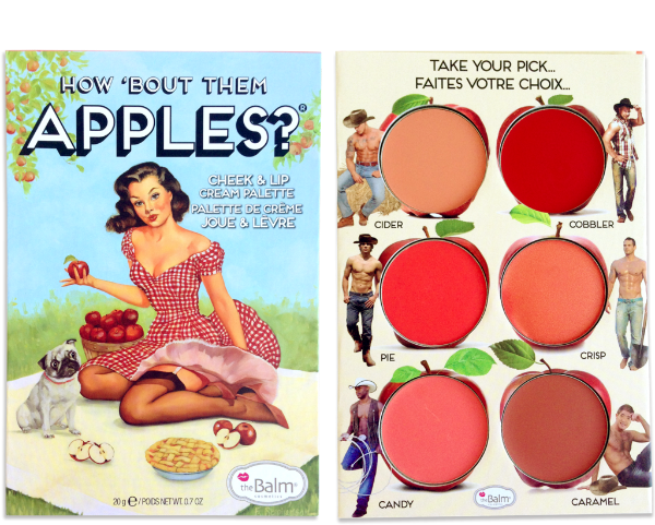 How bout them apples?, blush palette, Makeup bag