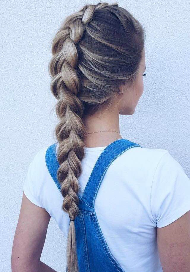 Dutch braid, braids, hairstyles, school hairstyles, easy hair