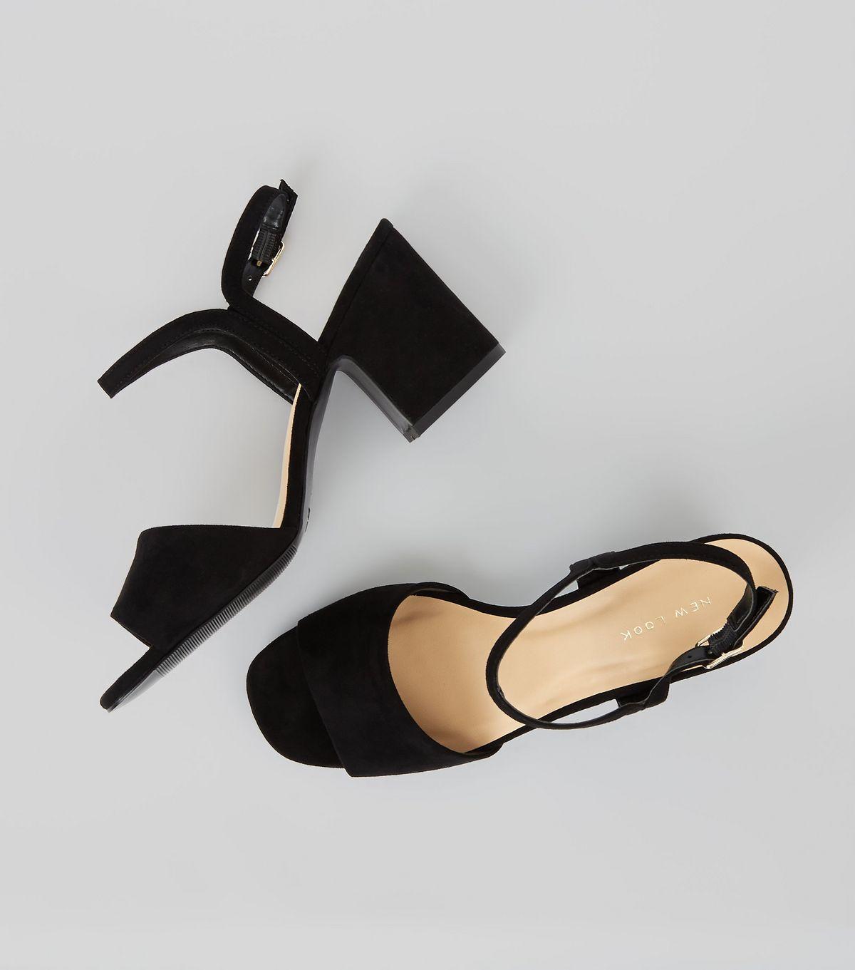 favourite, black-suedette-block-heel-sandals